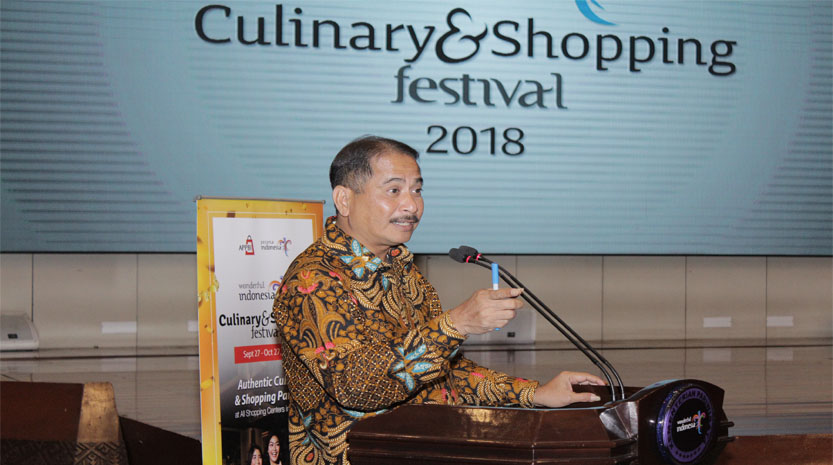 "[Foto] Menteri Pariwisata Republik Indonesia, Bapak Arief Yahya pada acara bincang media ""Wonderful Indonesia Culinary & Shopping Festival 2018"