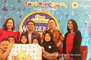 Toys Kingdom meluncurkan program akhir tahun Wonderful Holiday Gift dan Toy for Kids di Mal Kota Kasablanka, Rabu (5/12/18)